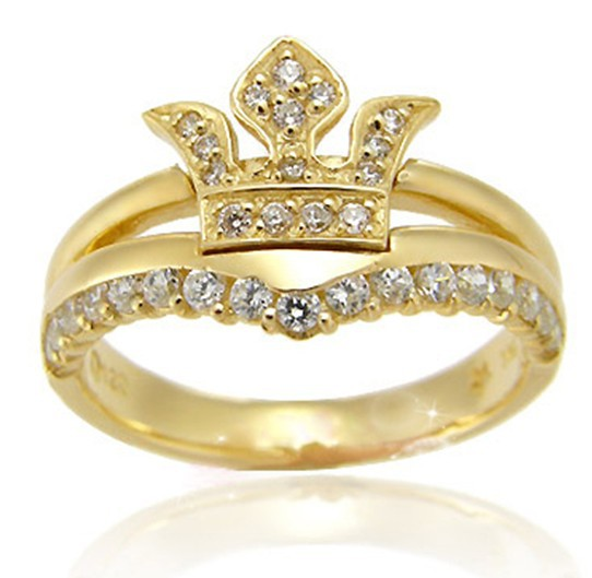 engagement wedding eternity band crown toe tail rings in rings from