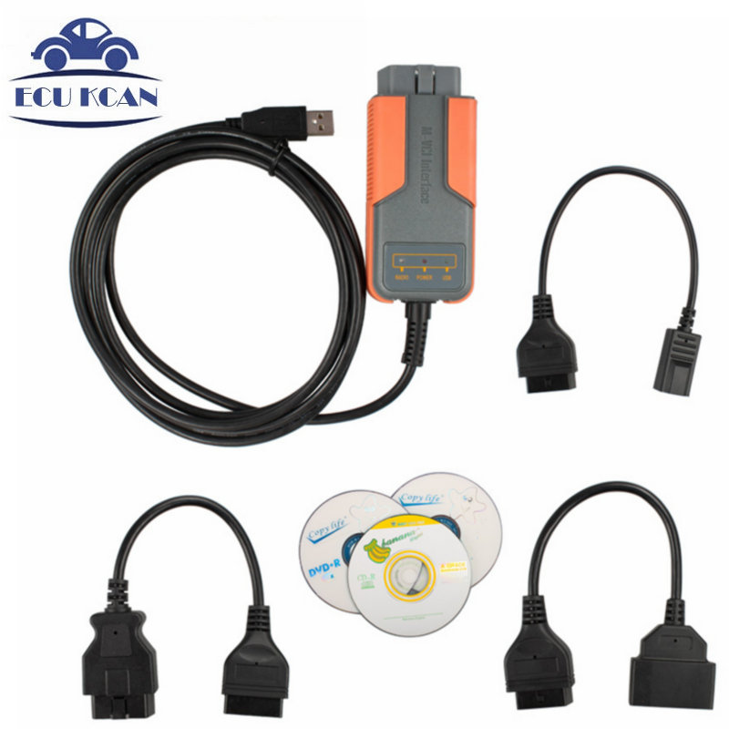 Professional MVCI J2534 SCAN For Toyo-ta TIS / VOLVO VIDA M-VCI Reprogramming OBD2 Interface 3IN1 OBDII Mini MVCI DHL Shipping(China (Mainland))