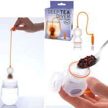 Deep Diver Infuser Loose Leaf Strainer Bag Mug Filter Friends Applied Tea holder set with gift box