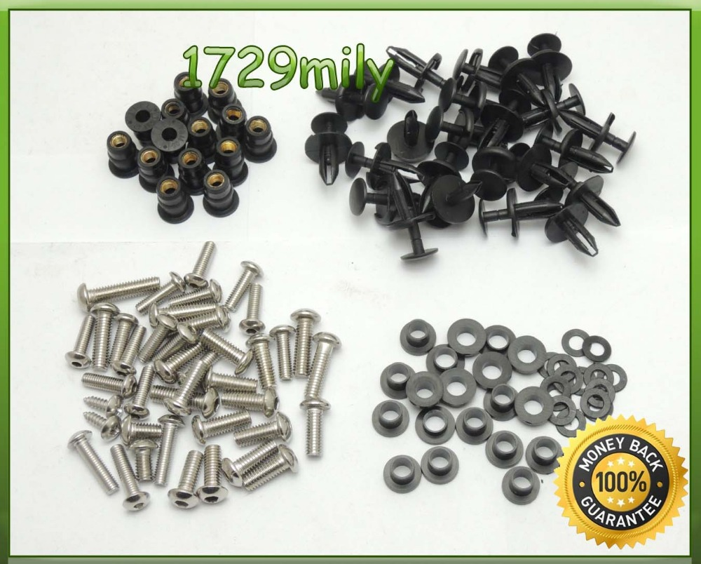 Complete Fairing Bolts Kit Body Screws For Honda CBR1000RR 2004 2005 2006 2007 fairing bolt screw OEM fitment FBTHD003(China (Mainland))