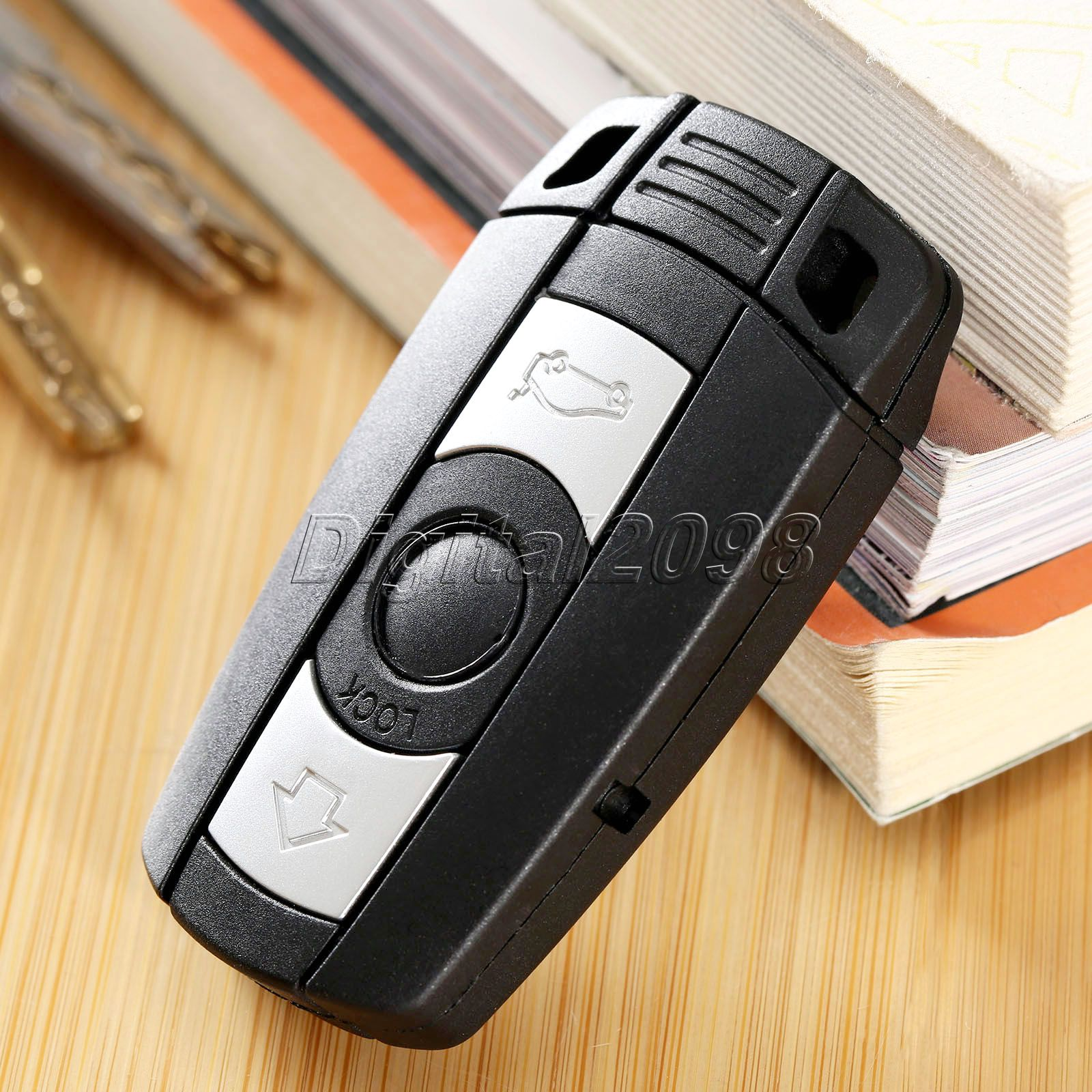 Replacement 3 Buttons Fob Remote Key Shell Case Folding Flip Uncut Blade Blank Car Key Shell for BMW 1 3 5 6 Car Alarm Housing(China (Mainland))
