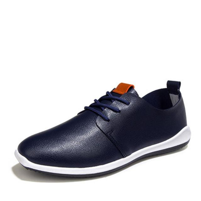 Квартиры 2016 весной новые мужские туфли мода кружева-up мужчины на плоской подошве ...