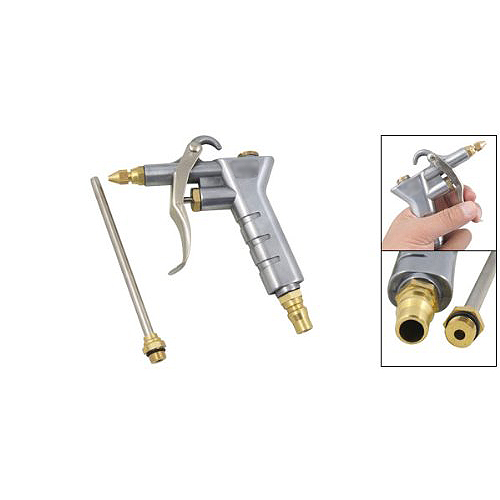 Best Selling Silver Tone Duster Cleaning Tool Nozzle Air Blow Gun(China (Mainland))