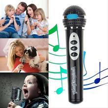 2015 High Quality Modern Girls Boys Microphone Mic Karaoke Singing Kid Funny Gift Music Toy children simulation microphone black(China (Mainland))