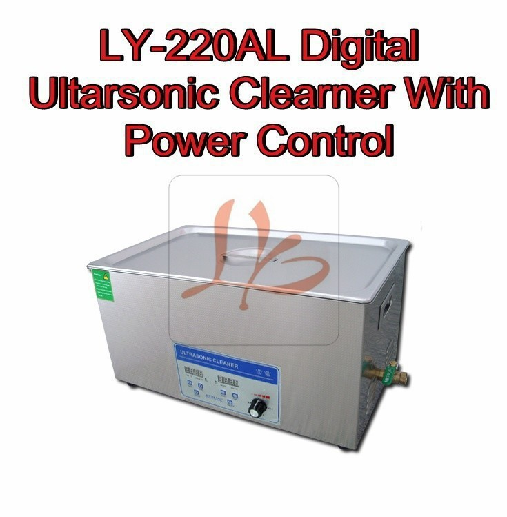 Ultrasonic Cleaner LY-220AL 480W 22L Digital Power adjustable ultrasonic cleaning machine with cleaning basket(China (Mainland))