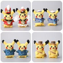 "NEW 5 ""13CM Pokemon Center Pikachu Plush Toys Monthly Pikachu Cosplay Stuffed Soft Dolls Kids Gift 8 Styles to Choose(China (Mainland))"
