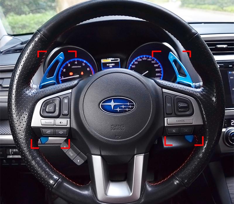 Фотография High quality steering wheel  Shift paddles Aerospace aluminum alloy trim 2pcs for Subaru Forester Outback Legacy Impreza