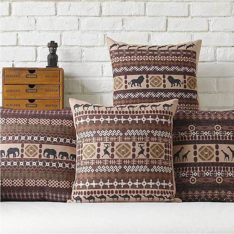 African style creative modern minimalist GEOMETRIC thick cotton Cushion Pillow office home decorate sofa cushions