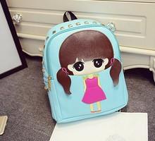 Korean cute cartoon girl personalized fashion backpacks students mini shoulder rivets bag teenage girls schoolbag(China (Mainland))
