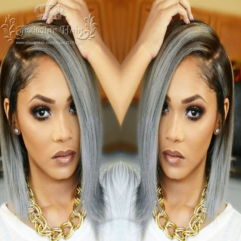 Ombre Human Hair Lace Front Wig Brazilian Ombre Human Bob Full Lace Front U Part Wigs Short Human Hair Wigs For Black Women