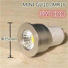 Buy small lamp mini gu10 35mm spotlight 3w dimmable led bulb 220v 12v mr16 mr11 spot lamp living room bedroom table lamp small for $2.30 in AliExpress store