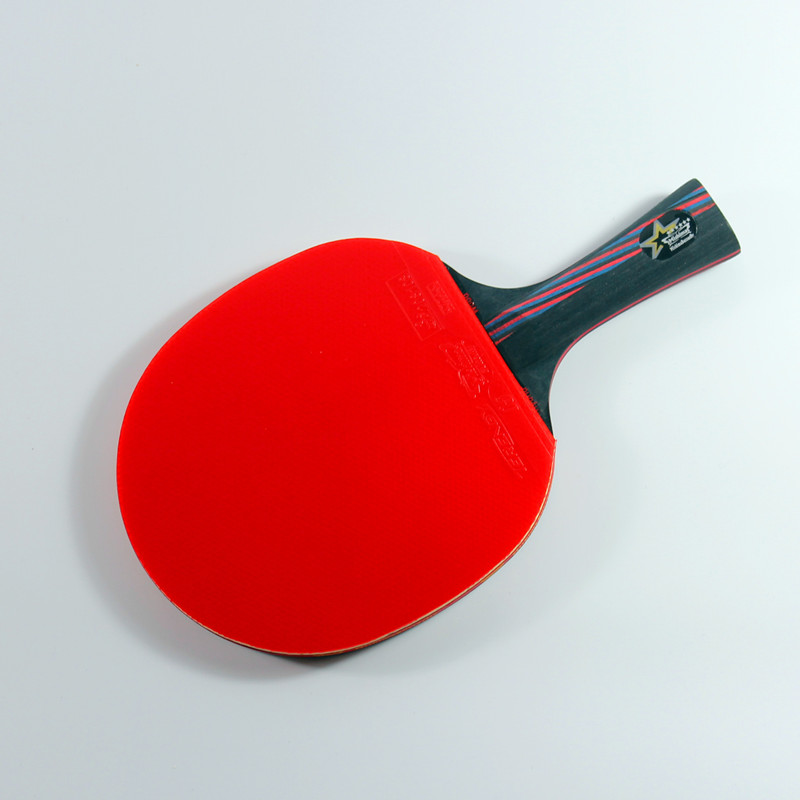 The best quality Table tennis racket Double pimples-in rubber Ping Pong Racket fast attack and loops or chop type player paddle(China (Mainland))