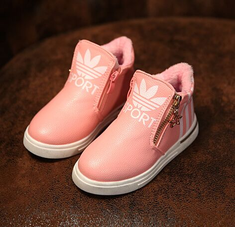 2016 new winter children boots kids warm shoes fur girls boots baby PU leather shoes toddler brand fashion snow boot size27-37