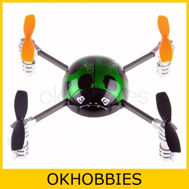 Hot Original Walkera QR Ladybird V2 Six Axis GYRO 3D Fly Mini UFO Aircraft RC Helicopter Quadcopter with DEVO 4 TX Transmitter
