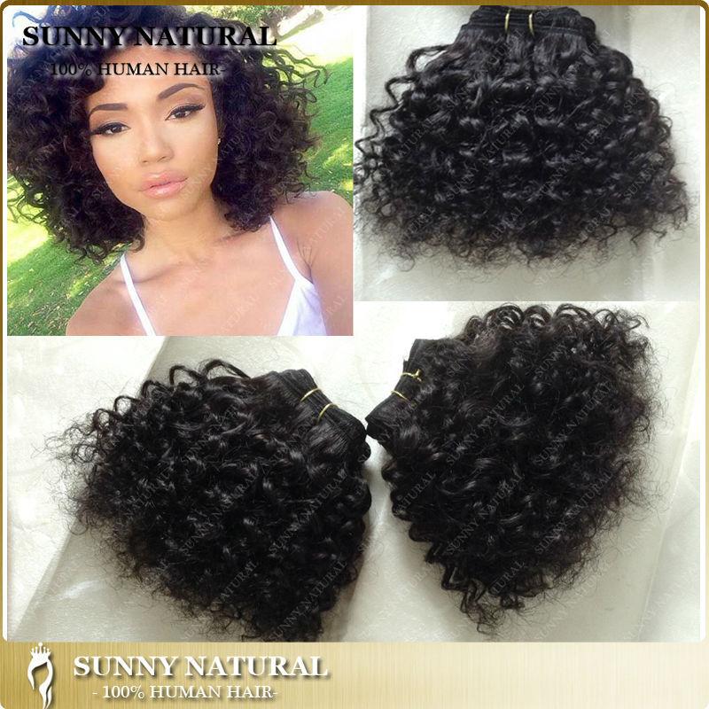 3pcs+free shipping BEBE/baby curls cheap human hair weaving 50g/pc #1B #2 in stock Brazilian hair extensions factory supply(China (Mainland))