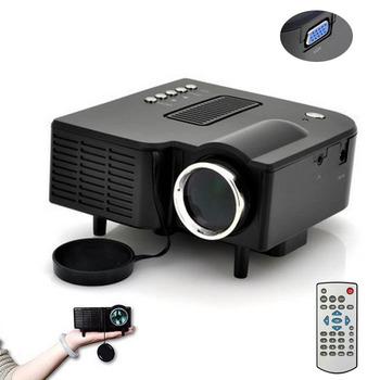 New Portable Multimedia LED Projector Home Cinema Theater Support AV VGA USB SD HDMI Black Freeshipping