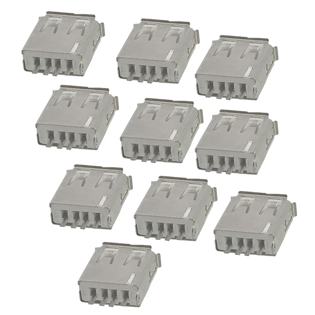 FS Hot 10 Pcs Straight Solder Type USB A Female Plug Jack Connector<br><br>Aliexpress
