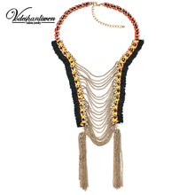 Buy Vodeshanliwen New Arrival ZA Long Tassel Chain Necklaces & pendants Charm Women Jewelry Vintage Maxi Collar Statement Necklace for $8.99 in AliExpress store