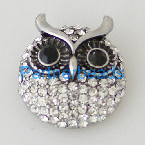 product Owl Clasps snap buttons for snaps jewelry fit ginger snaps bracelets from www partnerbeads com KB7956