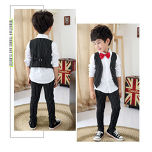 Boys Suits for Weddings Stripe Blazers Jackets Menino Kids Prom Suit Baby Sets Costume Garcon Mariage 3pcs Tuxedo Child Clothing