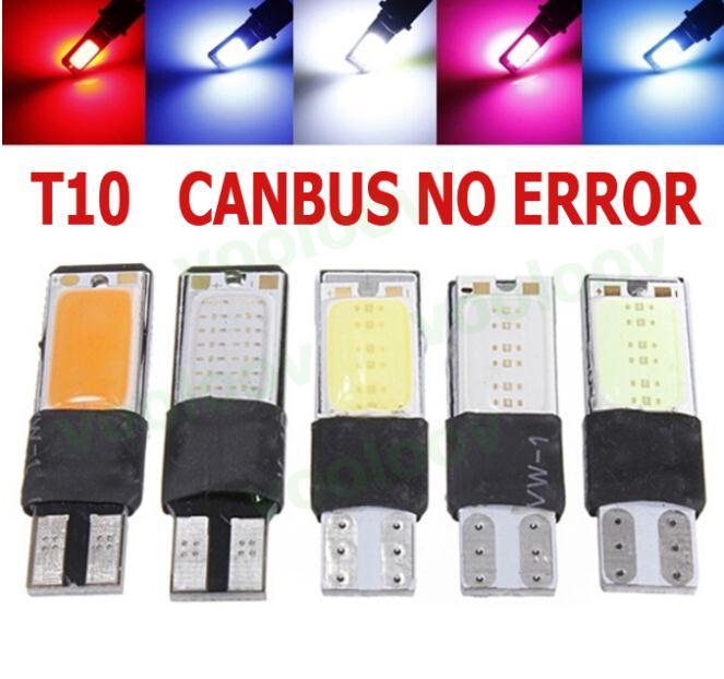 2 high power t10 w5w led cob car led t10 5w5 12v t 10 bule white car light fog Lamp interior light w5w t10 canbus error free(China (Mainland))