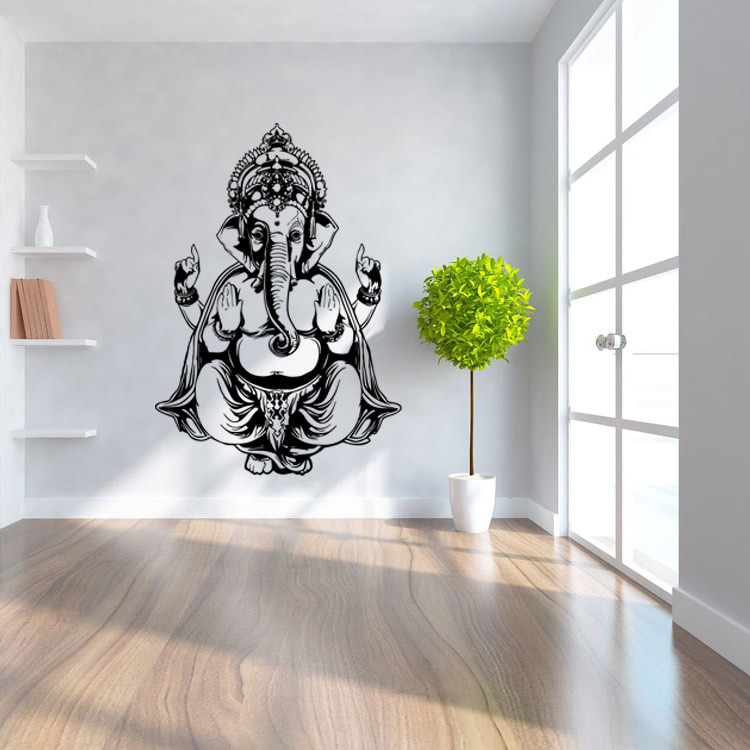 Diy Home Decoration Wall Decals : Ganesh god yoga mandala decorative wall stickers home