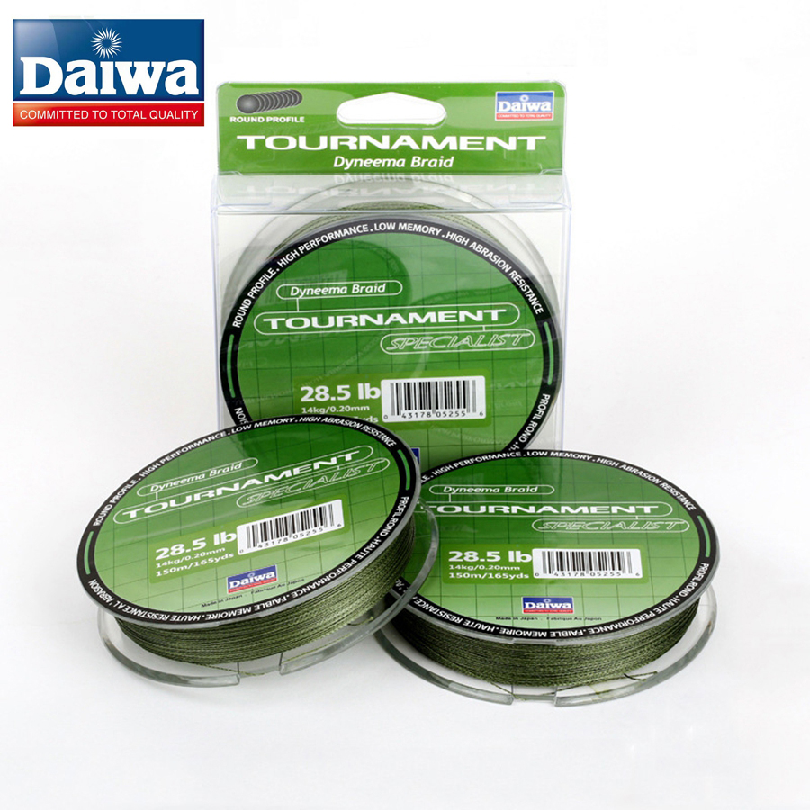 150m daiwa brand fishing line super strong 4 strands pe for Best fishing line brand