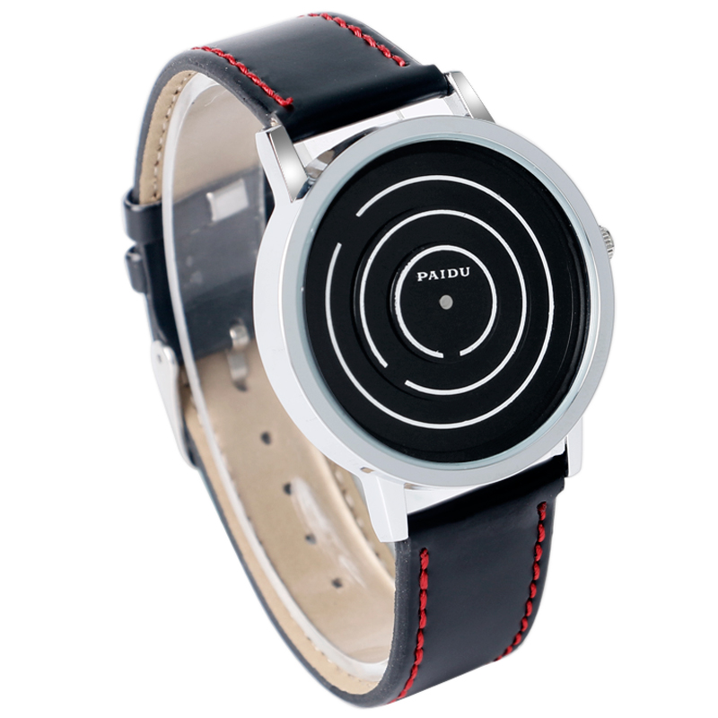 compare prices on futuristic watches for men online shopping buy men women fashion leather band turntable quartz wrist watch futuristic innovative design for students casual watches