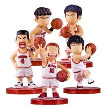 SLAM DUNK Hanamichi Sakuragi Rukawa Kaede 8cm Action Figure Collection Japanese Fever Basketball Animation Brinquedos Kid Toys