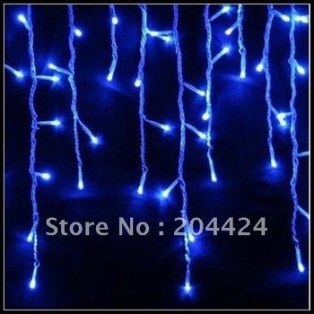 free shipping 5pcs/lot Xmas 100 LED snowing icicle lights curtain for Christmas wedding party garden lamps