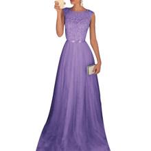 Kobiety olśniewająca wieczór sukienka na imprezę patchwork bez rękawów O neck sukienka w dużym rozmiarze wysoka talia kobiety długa sukienka Vestidos lato szata Femme(China)
