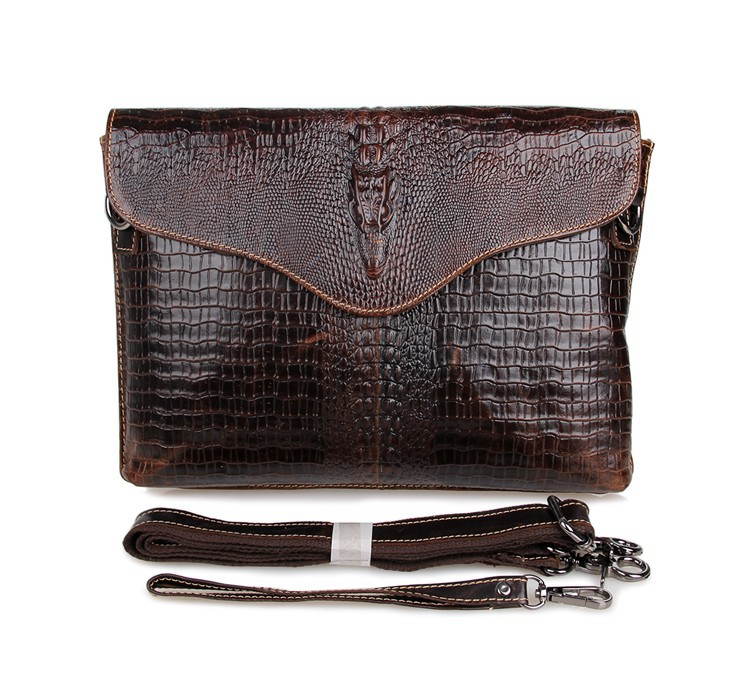 Promotion fashion two use real genuine leather crocodile men messenger bags cowhide men s clutch bag
