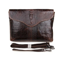 Promotion fashion two use real genuine leather crocodile men messenger bags cowhide men's clutch bag men travel bags #VP-J7267