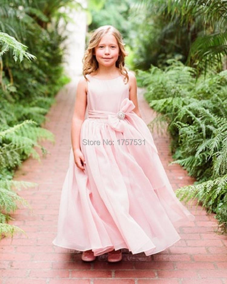 Fashion Blush Pink Flower Girl Dress Princess Vestido ... - photo #24