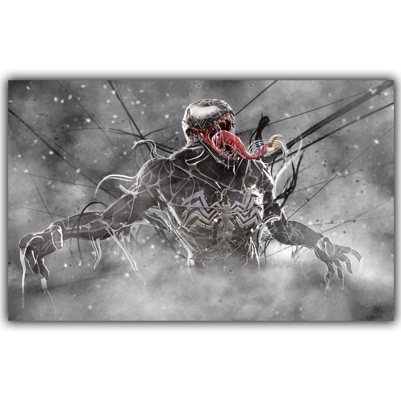 Venom Carnage Spider Man DC Comics Superhero Poster Image For Home Decoration Silk Canvas Fabric Print Poster Wallpape DY1040(China (Mainland))