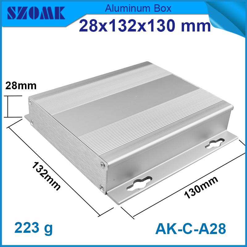 10 pcs/lot metal diy aluminum junction box enclosure power amplifier pcb 28*132*130mm extruder aluminium cabinet(China (Mainland))