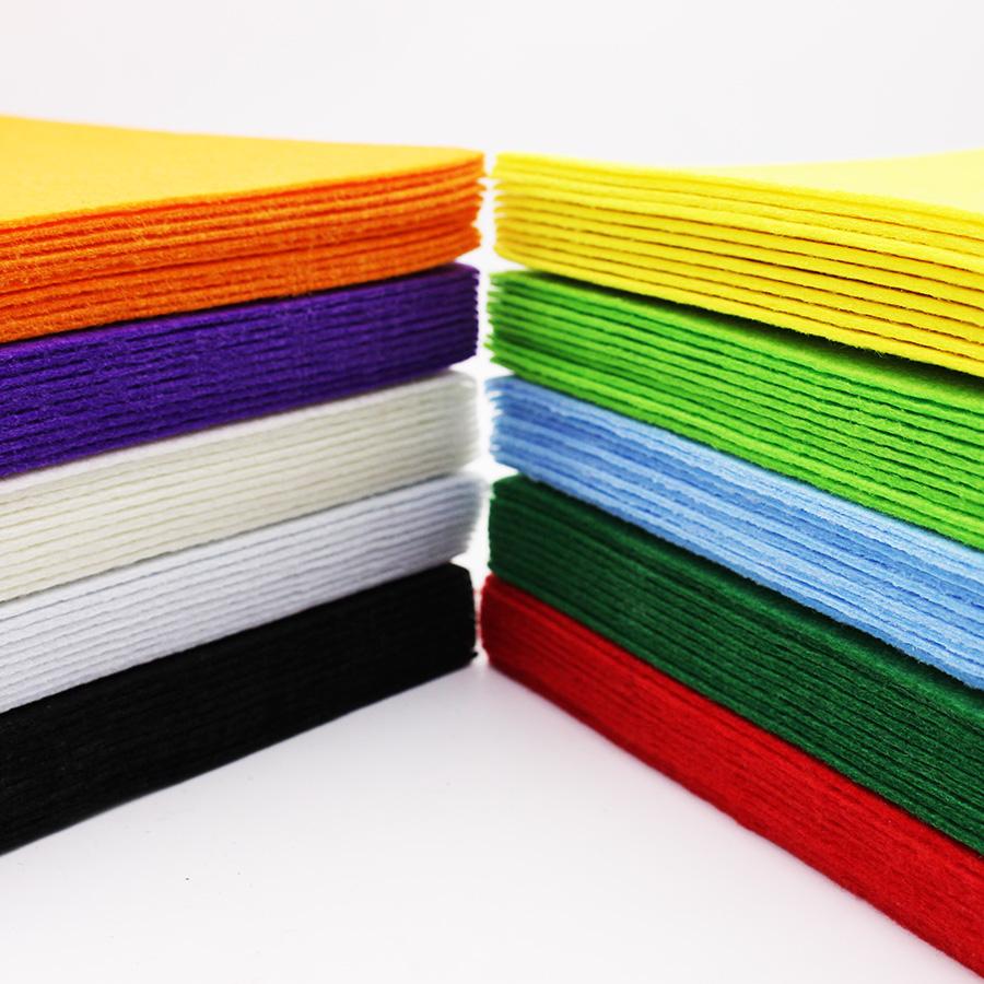 Nonwoven Polyester Felt Fabric Sewing Felt Sheet DIY Cloth Home Decor Felt Craft Fieltro Feltro 2 mm Thickness 20*30CM 12Pcs(China (Mainland))