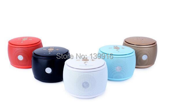 Bluetooth Speaker Grid Super Bass Metal Drum Mini Portable caixa de som Connect phone connected to computers FM Radio TF Card(China (Mainland))