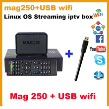 Mag250 iptv box + usb wifi adapter HD linux iptv box mag245 basic version set top box mag 250 box Free shipping