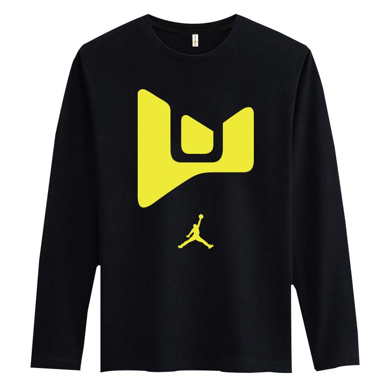 men tshirt long sleeve autumn Dwyane wade basketball jerseys 100% cotton loose o-neck T-shirt plus size 6XL 5XL 4XL cheap sports(China (Mainland))