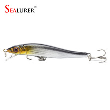 Sealurer Brand New Minnow Fishing Lures 8CM 5.7G 8# Hooks Fish Minnow Lure Tackle Hard Bait Pesca Wobbler Artificial Swim bait(China (Mainland))
