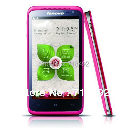 Original Lenovo LePhone S720 4.5 Inch IPS QHD Screen Android 4.0 MTK6577 Dual Core 3G Call phone(China (Mainland))
