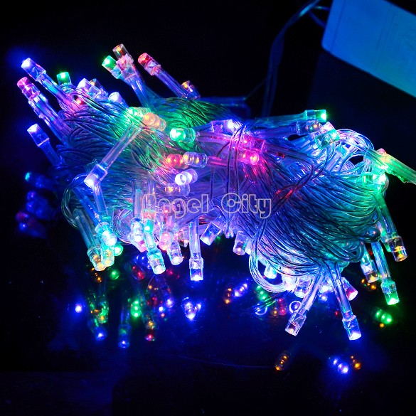 3Colors 10M 100 LED Lights Decorative Christmas Party Festival Twinkle String Lights Bulb 220V EU Drop shipping 18(China (Mainland))