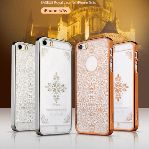 5 5S Ultrathin Case Royal Style Rose gold Snow Pattern Hard iPhone back cover - WT 3C Accessories Online Store store