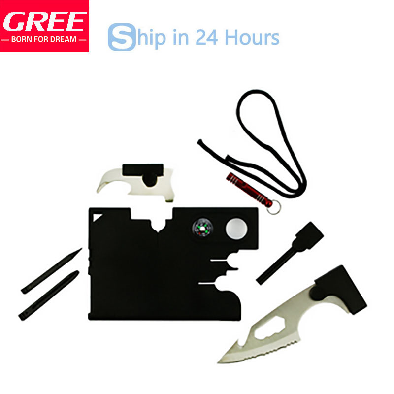2016 New 10 in 1 Multi Purpose Credit Card Knife Outdoor Hunting Camping Tools Christmas Gift Free Shipping(China (Mainland))