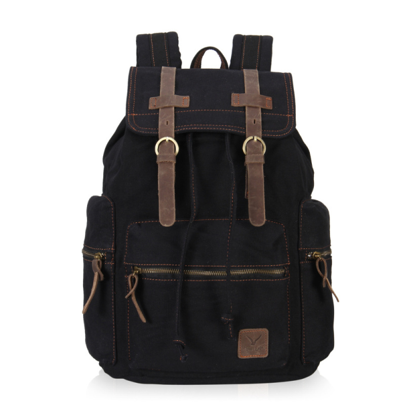 VEEVAN Unisex's Retro High Density Casual Large Style Canvas Satchel Laptop Backpack Fashion Vintage School Bags Backpack(China (Mainland))