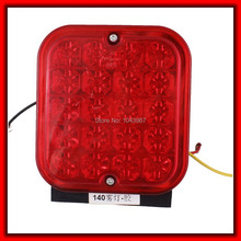 Truck Car Square Lens red,white,Yellow 20 LED Daytime Driving Lamp Fog Light(China (Mainland))