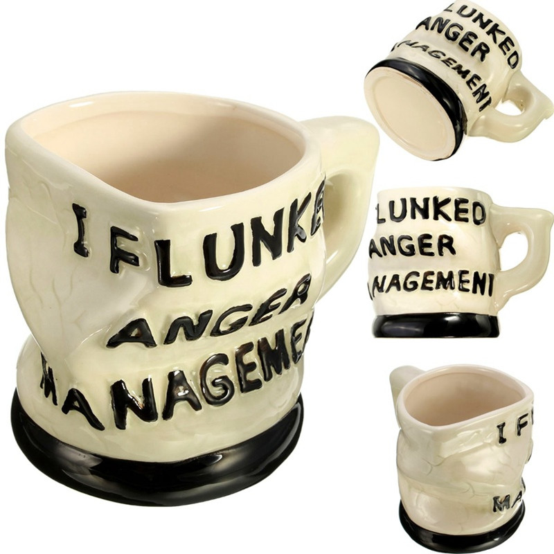 Best Promotion Special Flunked Anger Management Ceramic Mug Chocolate Tea Coffee Water Cup Home Office Dorm Drinkware Best Gift(China (Mainland))