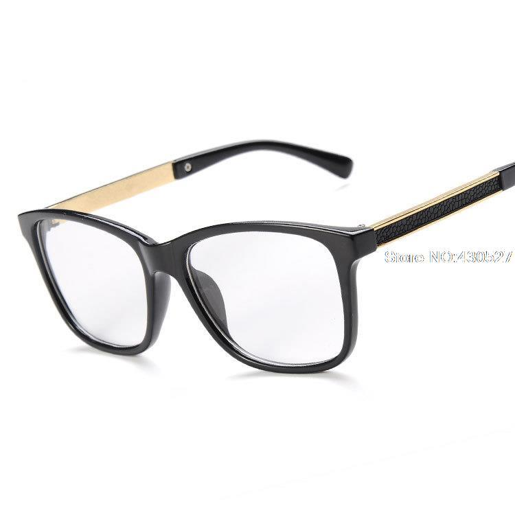Fashion Vintage Clear Glasses Black Spectacle Frames Women Man Prescription Eyewear Reading Glasses Of Grade Myopia Glasses