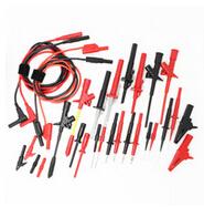 Electronic specialties probe set 31 pcs. black red, piercing clip, test hook, Crocodile probe(China (Mainland))